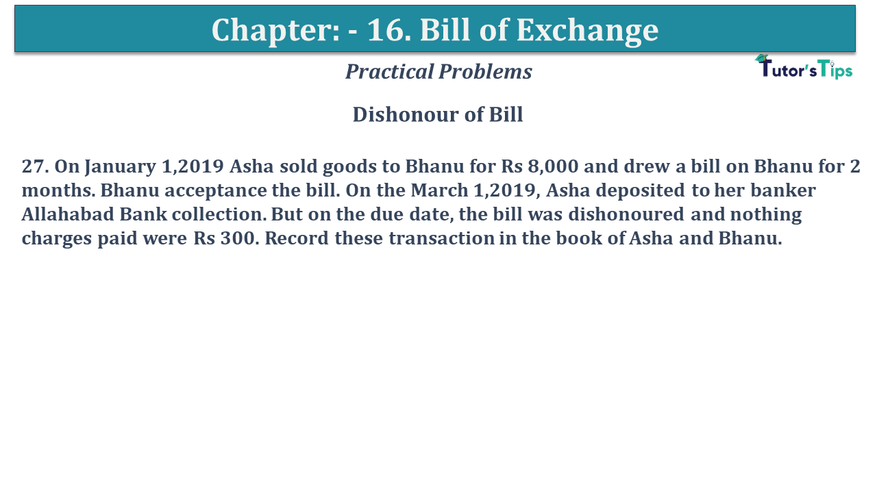 Question No 27 Chapter No 15