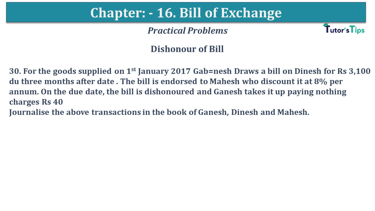 Question No 30 Chapter No 15