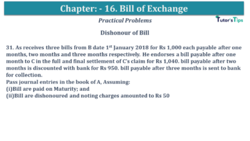 Q 31 CH 15 USHA 1 Book 2020 Solution min 360x203 - Chapter No. 15 - Bills of Exchange - USHA Publication Class +1 - Solution
