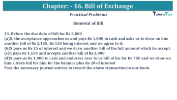 Q 33 CH 15 USHA 1 Book 2020 Solution min 360x203 - Chapter No. 15 - Bills of Exchange - USHA Publication Class +1 - Solution