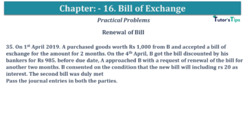 Q 35 CH 15 USHA 1 Book 2020 Solution min 1 360x203 - Chapter No. 15 - Bills of Exchange - USHA Publication Class +1 - Solution