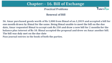 Q 36 CH 15 USHA 1 Book 2020 Solution min 360x203 - Chapter No. 15 - Bills of Exchange - USHA Publication Class +1 - Solution