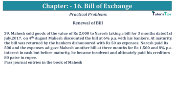 Q 39 CH 15 USHA 1 Book 2020 Solution min 360x203 - Chapter No. 15 - Bills of Exchange - USHA Publication Class +1 - Solution