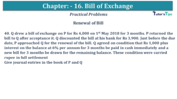 Q 40 CH 15 USHA 1 Book 2020 Solution min 360x203 - Chapter No. 15 - Bills of Exchange - USHA Publication Class +1 - Solution