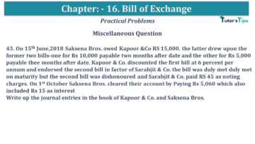 Q 43 CH 15 USHA 1 Book 2020 Solution min 360x203 - Chapter No. 15 - Bills of Exchange - USHA Publication Class +1 - Solution