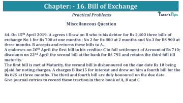 Q 44 CH 15 USHA 1 Book 2020 Solution min 360x203 - Chapter No. 15 - Bills of Exchange - USHA Publication Class +1 - Solution