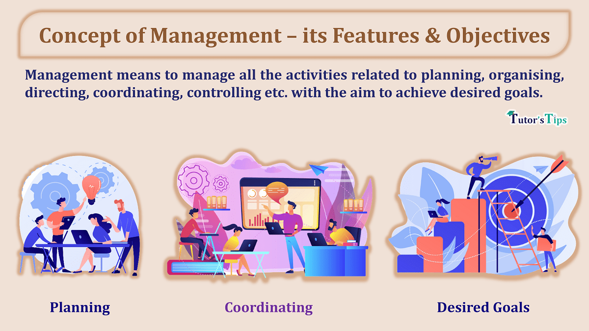 Concept of Management – its Features & Objectives
