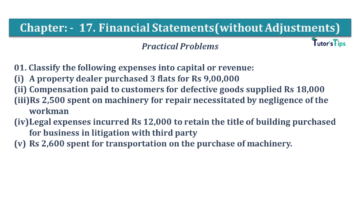 Q 01 CH 17 USHA 1 Book 2020 Solution min 360x203 - Chapter No. 17 - Financial Statements - (Without Adjustments) - USHA Publication Class +1 - Solution