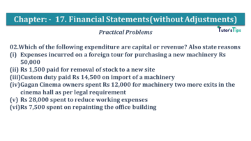 Q 02 CH 17 USHA 1 Book 2020 Solution min 360x203 - Chapter No. 17 - Financial Statements - (Without Adjustments) - USHA Publication Class +1 - Solution