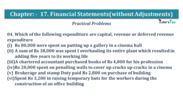Q 04 CH 17 USHA 1 Book 2020 Solution min 360x203 - Chapter No. 17 - Financial Statements - (Without Adjustments) - USHA Publication Class +1 - Solution