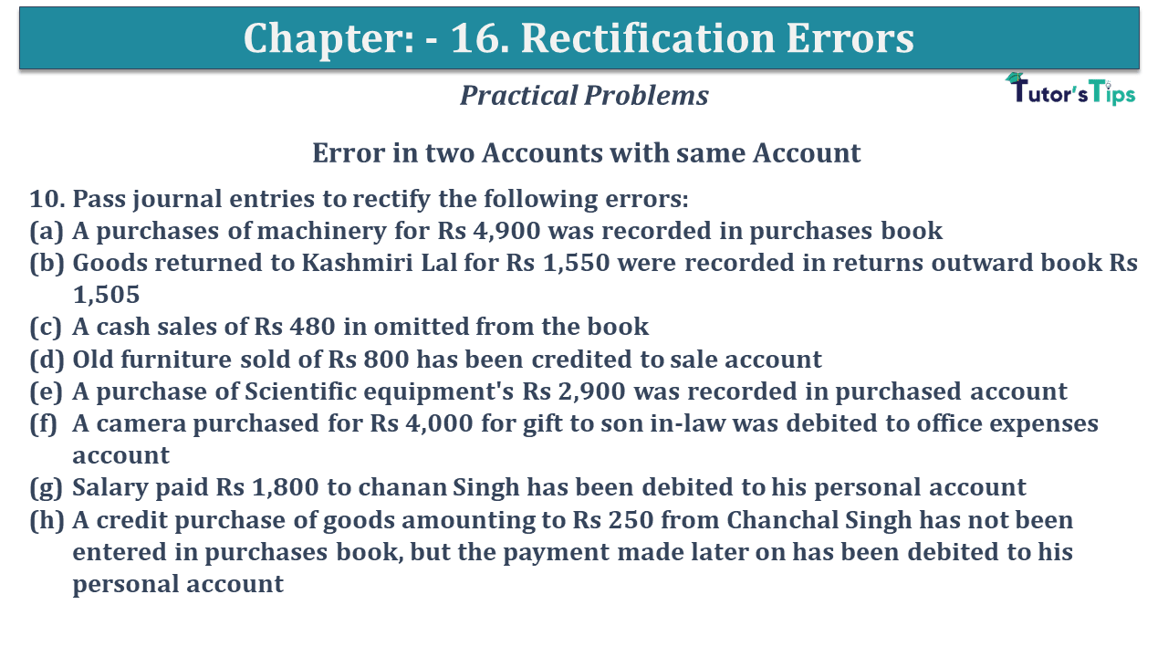 Question No 10 Chapter No 16