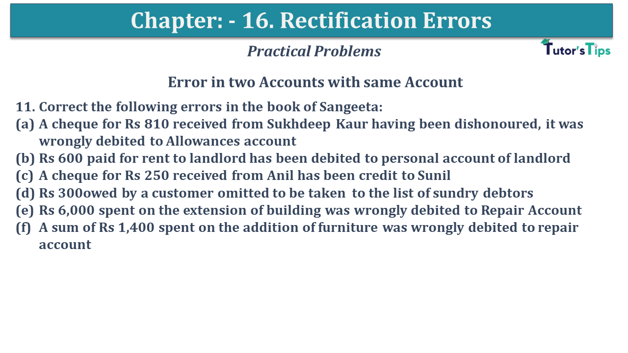 Question No 11 Chapter No 16