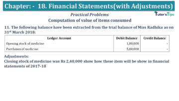 Q 11 CH 18 USHA 1 Book 2020 Solution min 360x203 - Chapter No. 18 - Financial Statements - (With Adjustments) - USHA Publication Class +1 - Solution