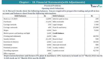Q 12 CH 18 USHA 1 Book 2020 Solution min 360x203 - Chapter No. 18 - Financial Statements - (With Adjustments) - USHA Publication Class +1 - Solution