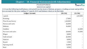 Q 13 CH 18 USHA 1 Book 2020 Solution min 360x203 - Chapter No. 18 - Financial Statements - (With Adjustments) - USHA Publication Class +1 - Solution
