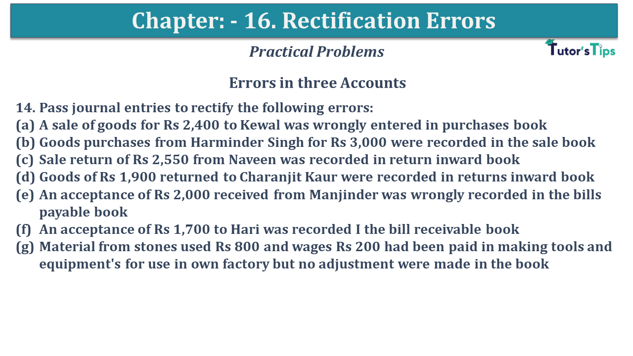 Question No 14 Chapter No 16