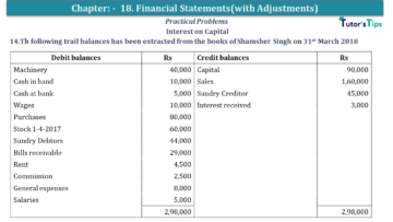 Q 14 CH 18 USHA 1 Book 2020 Solution min 360x203 - Chapter No. 18 - Financial Statements - (With Adjustments) - USHA Publication Class +1 - Solution