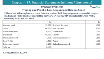 Q 15 CH 17 USHA 1 Book 2020 Solution min 360x203 - Chapter No. 17 - Financial Statements - (Without Adjustments) - USHA Publication Class +1 - Solution