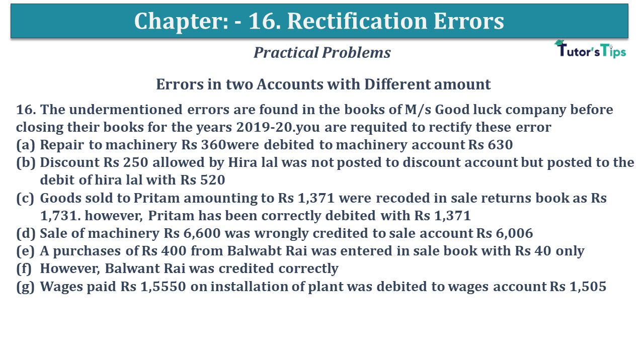 Question No 16 Chapter No 16