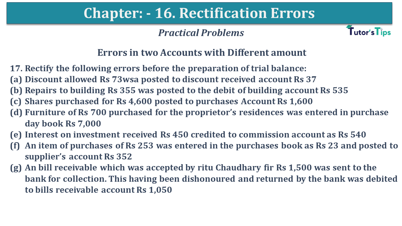 Question No 17 Chapter No 16
