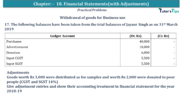 Q 17 CH 18 USHA 1 Book 2020 Solution min 360x203 - Chapter No. 18 - Financial Statements - (With Adjustments) - USHA Publication Class +1 - Solution