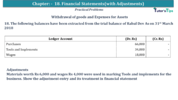 Q 18 CH 18 USHA 1 Book 2020 Solution min 360x203 - Chapter No. 18 - Financial Statements - (With Adjustments) - USHA Publication Class +1 - Solution