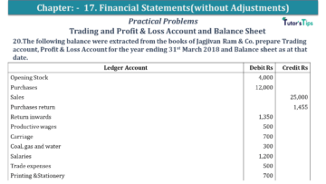 Q 20 CH 17 USHA 1 Book 2020 Solution min 360x203 - Chapter No. 17 - Financial Statements - (Without Adjustments) - USHA Publication Class +1 - Solution