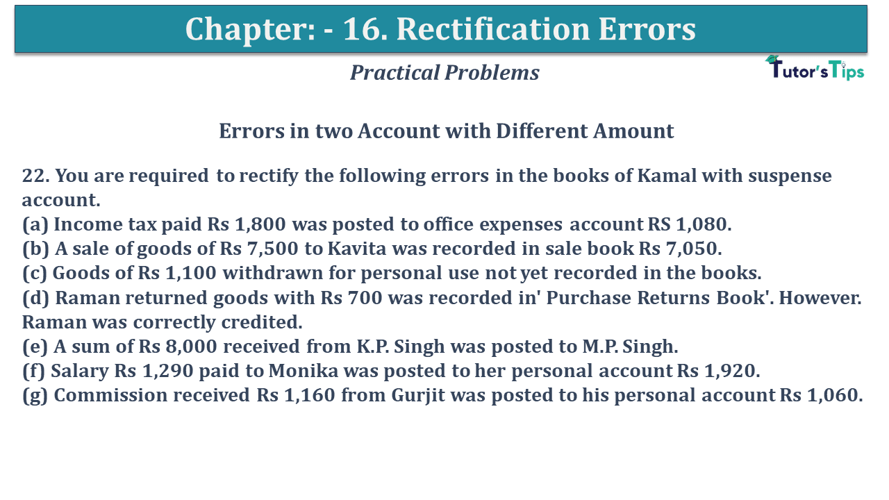 Question No 22 Chapter No 16