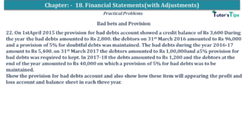 Q 22 CH 18 USHA 1 Book 2020 Solution min 360x203 - Chapter No. 18 - Financial Statements - (With Adjustments) - USHA Publication Class +1 - Solution