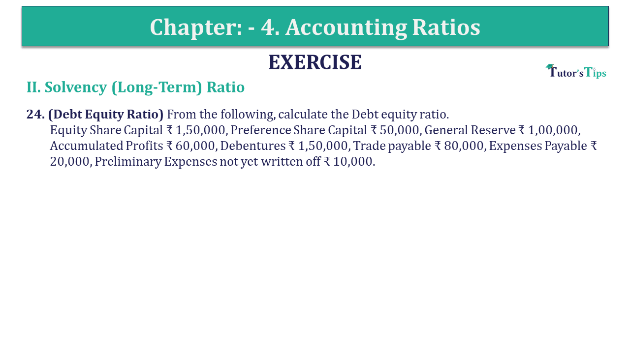 Question 24 Chapter 4 of +2-B