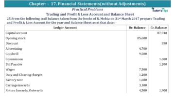 Q 25 CH 17 USHA 1 Book 2020 Solution min 360x203 - Chapter No. 17 - Financial Statements - (Without Adjustments) - USHA Publication Class +1 - Solution