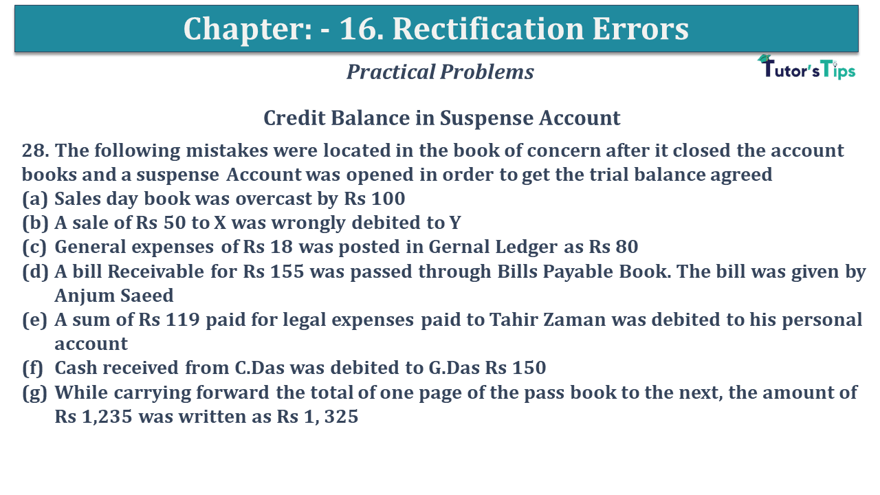 Question No 28 Chapter No 16