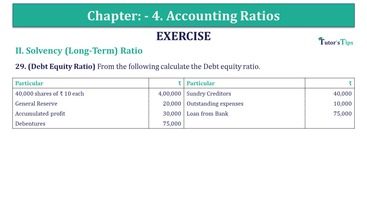 Question 29 Chapter 4 of +2-B
