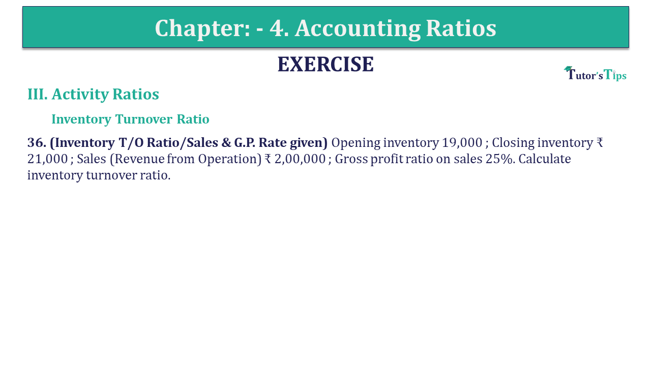 Question 36 Chapter 4 of +2-B