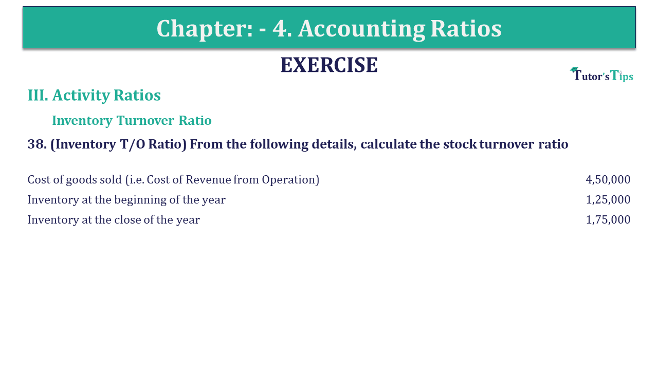 Question 38 Chapter 4 of +2-B