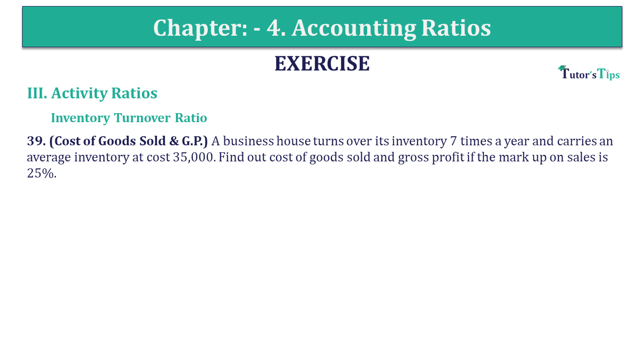 Question 39 Chapter 4 of +2-B