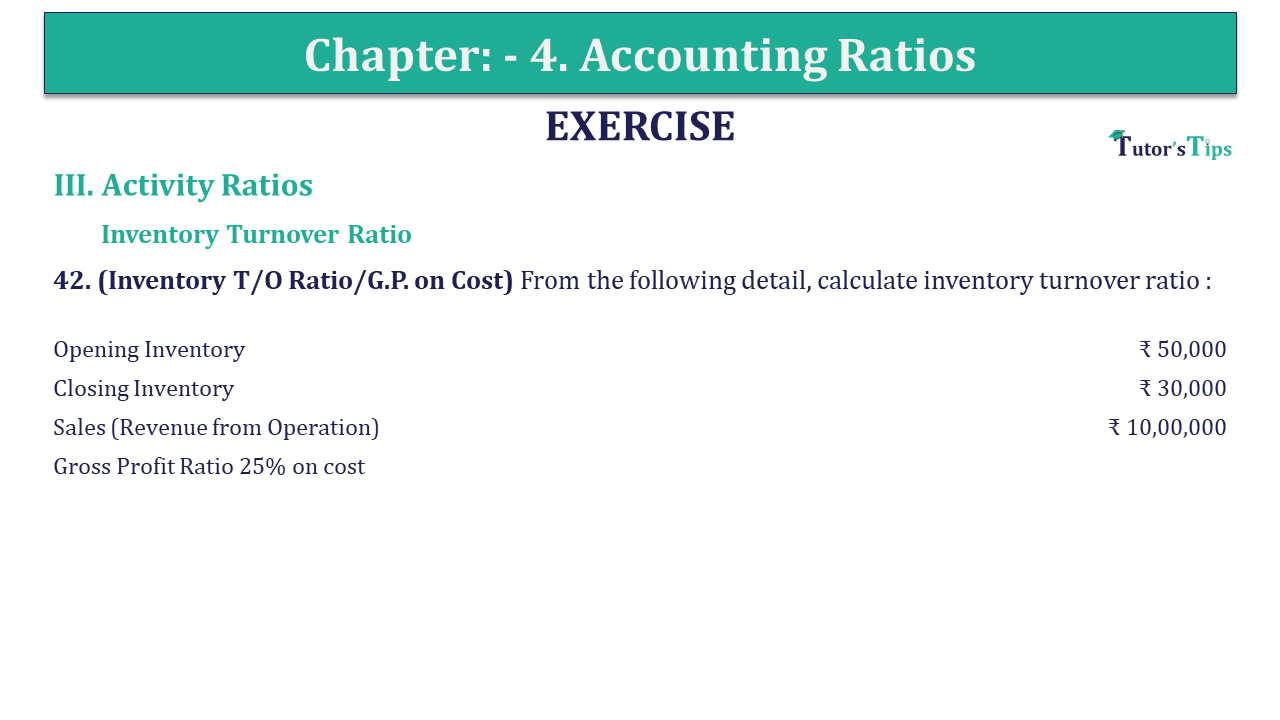 Question 42 Chapter 4 of +2-B