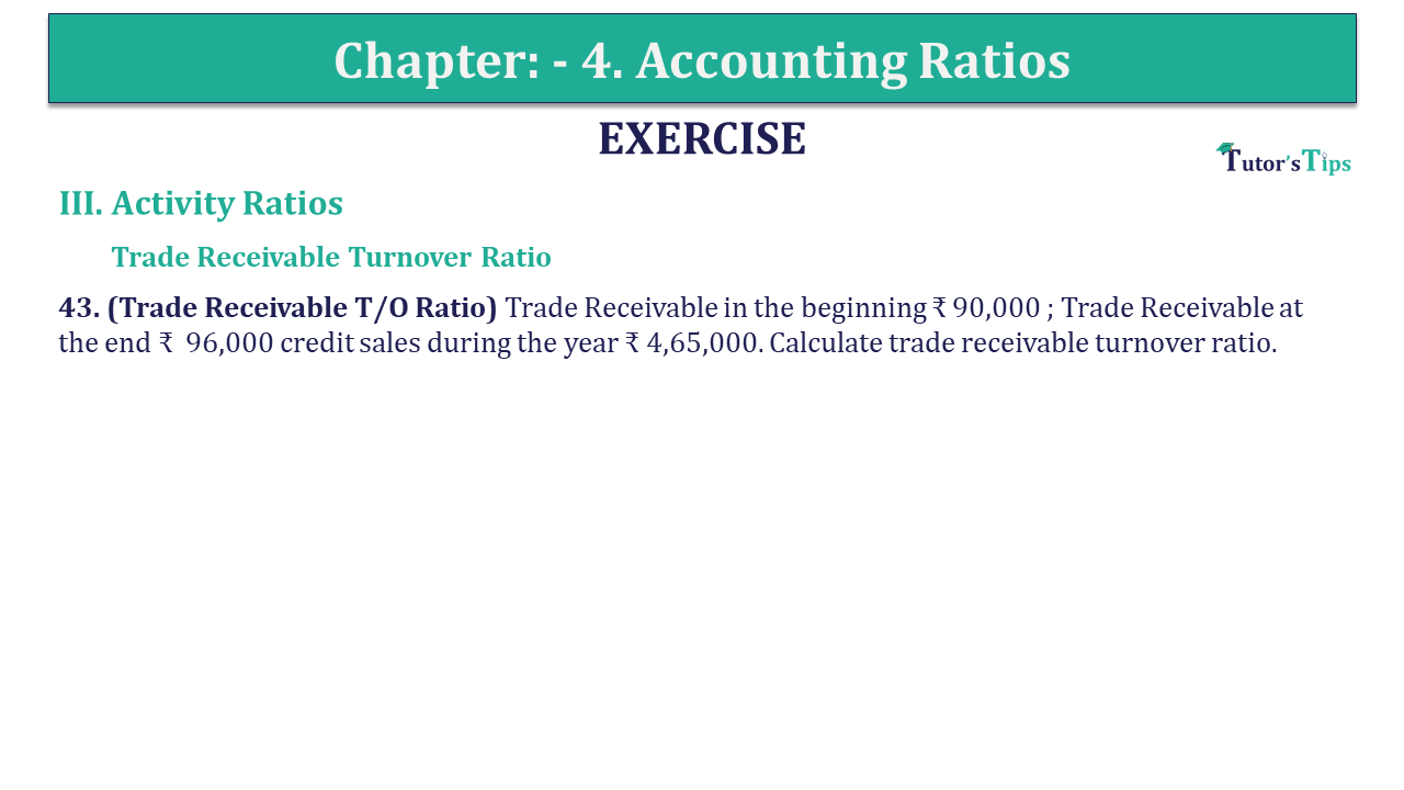Question 43 Chapter 4 of +2-B
