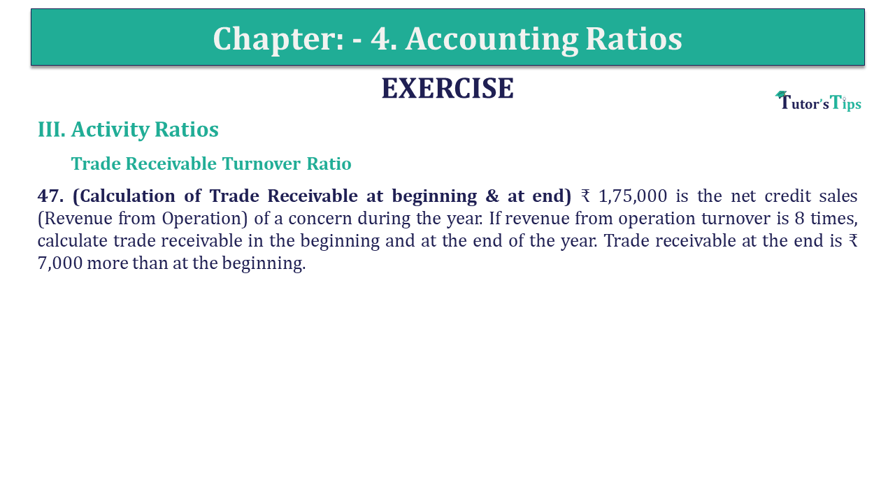 Question 47 Chapter 4 of +2-B