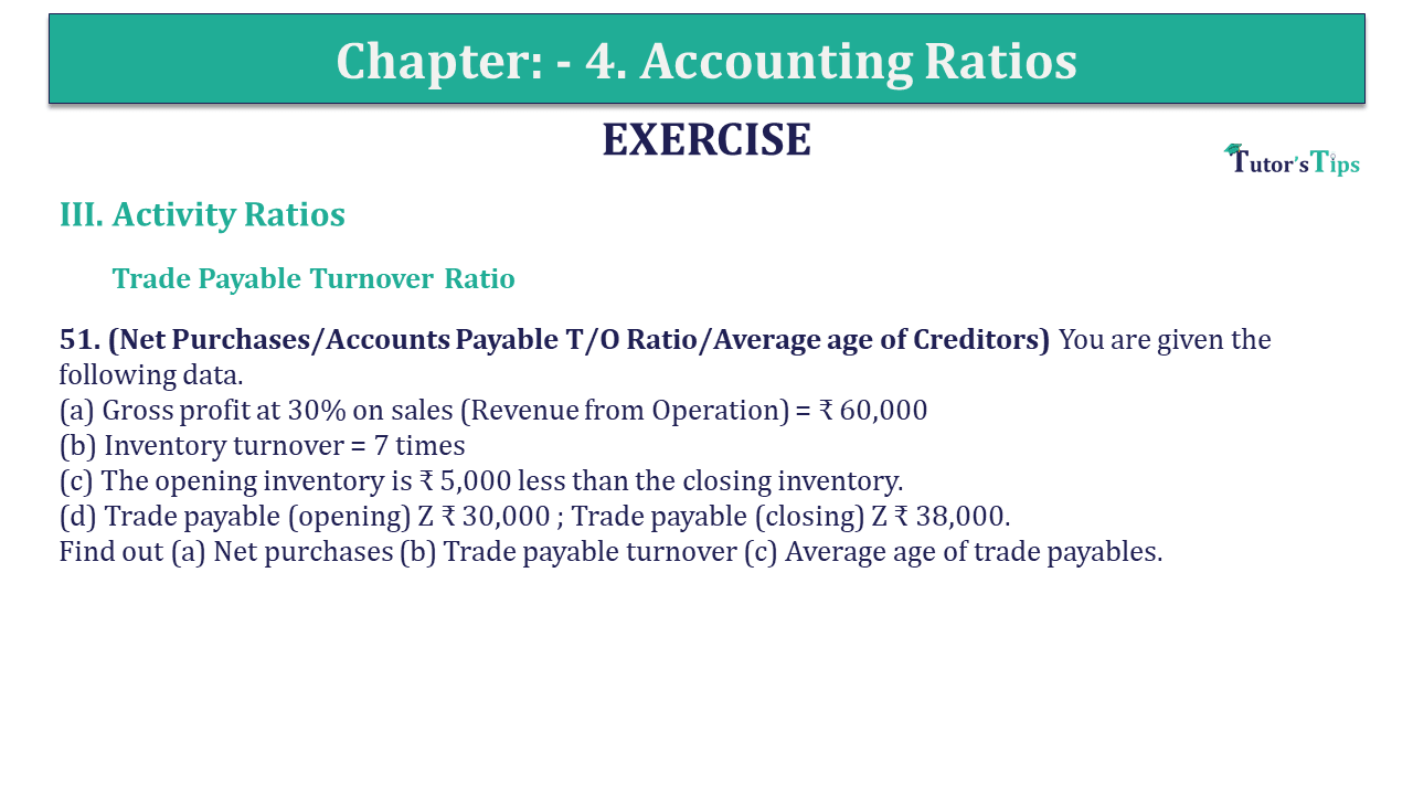 Question 51 Chapter 4 of +2-B
