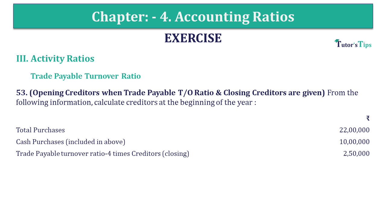 Question 53 Chapter 4 of +2-B