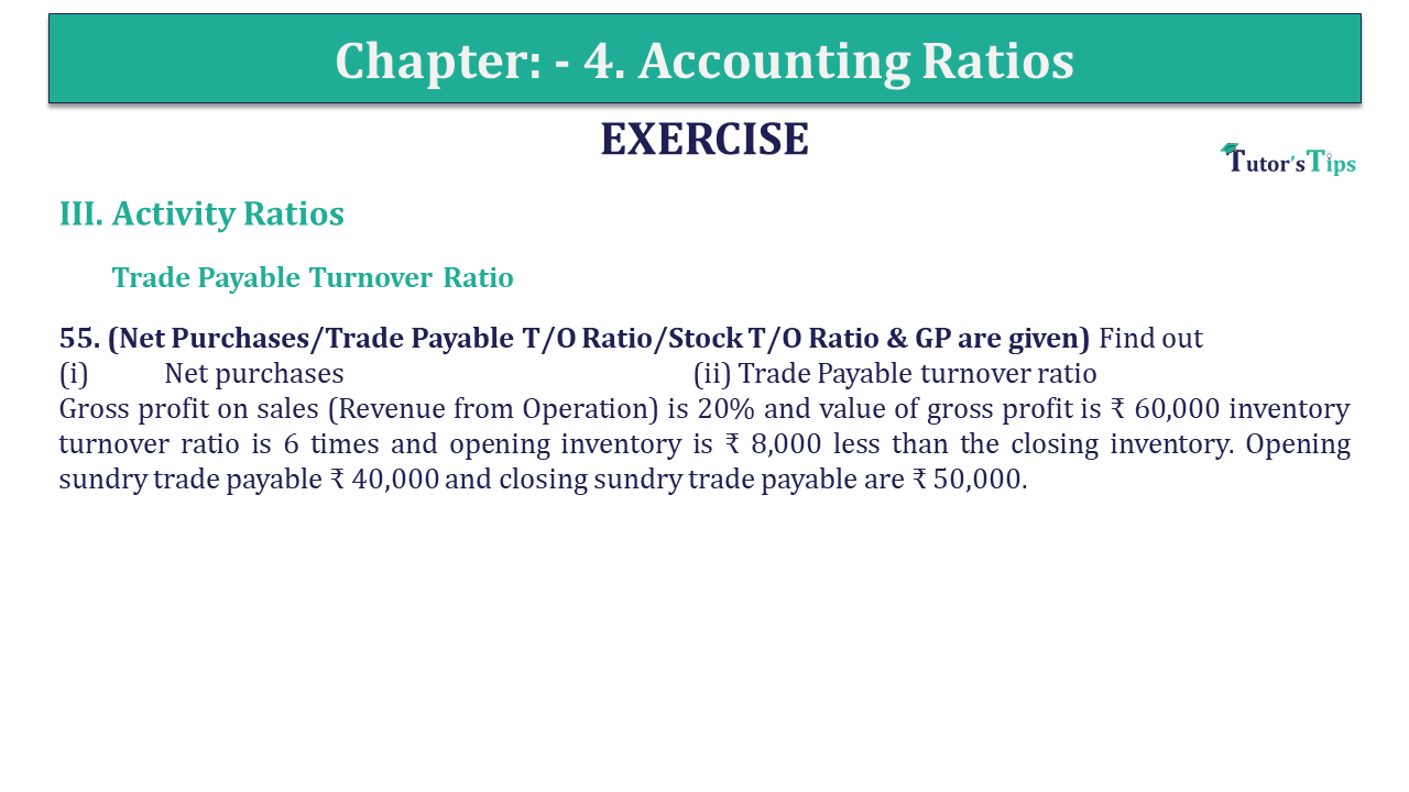 Question 55 Chapter 4 of +2-B