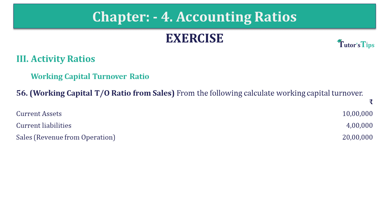 Question 56 Chapter 4 of +2-B