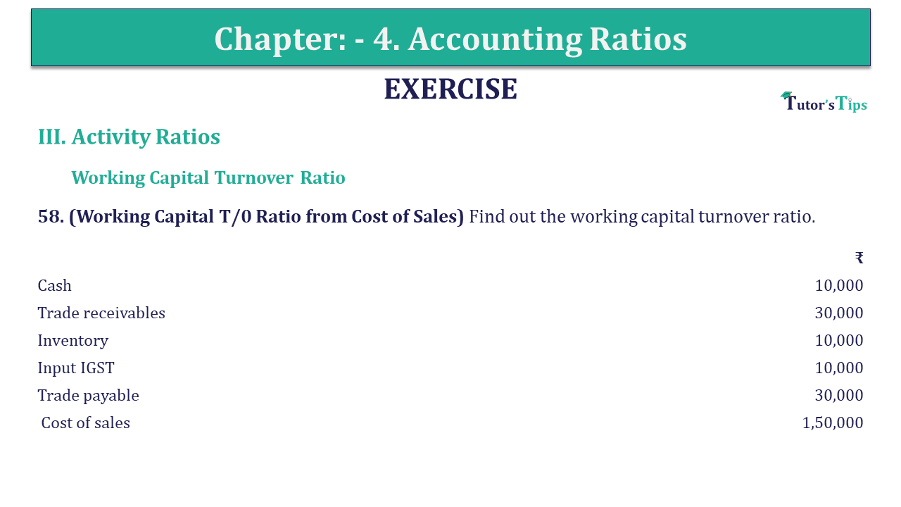 Question 58 Chapter 4 of +2-B