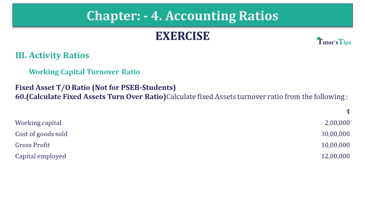 Question 61 Chapter 4 of +2-B
