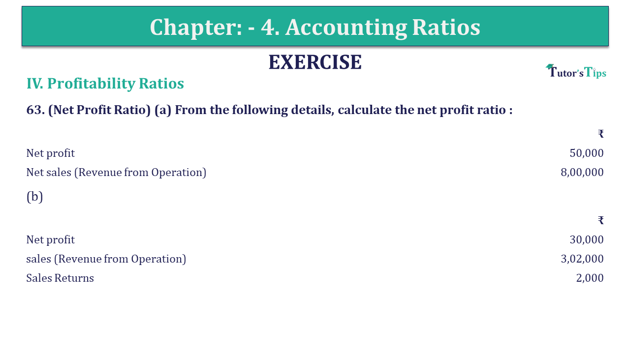 Question 63 Chapter 4 of +2-B