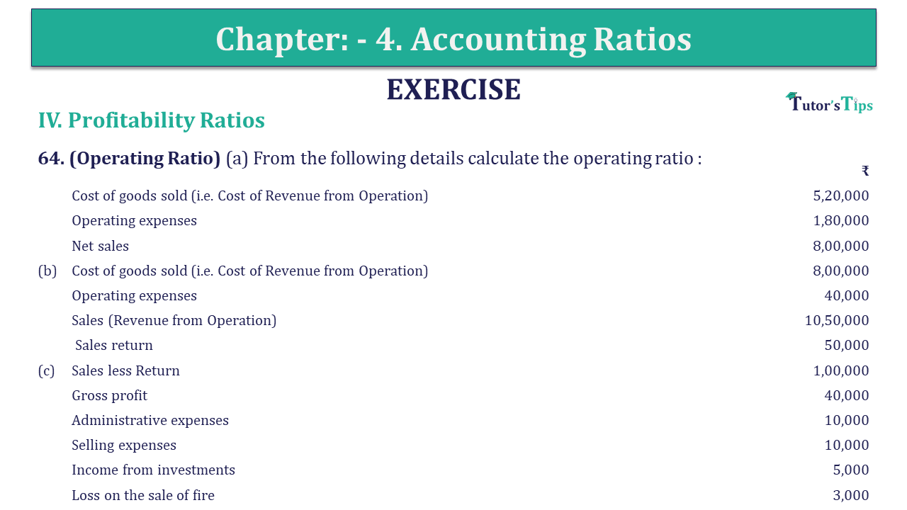 Question 64 Chapter 4 of +2-B