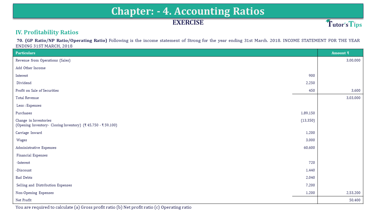 Question 70 Chapter 4 of +2-B