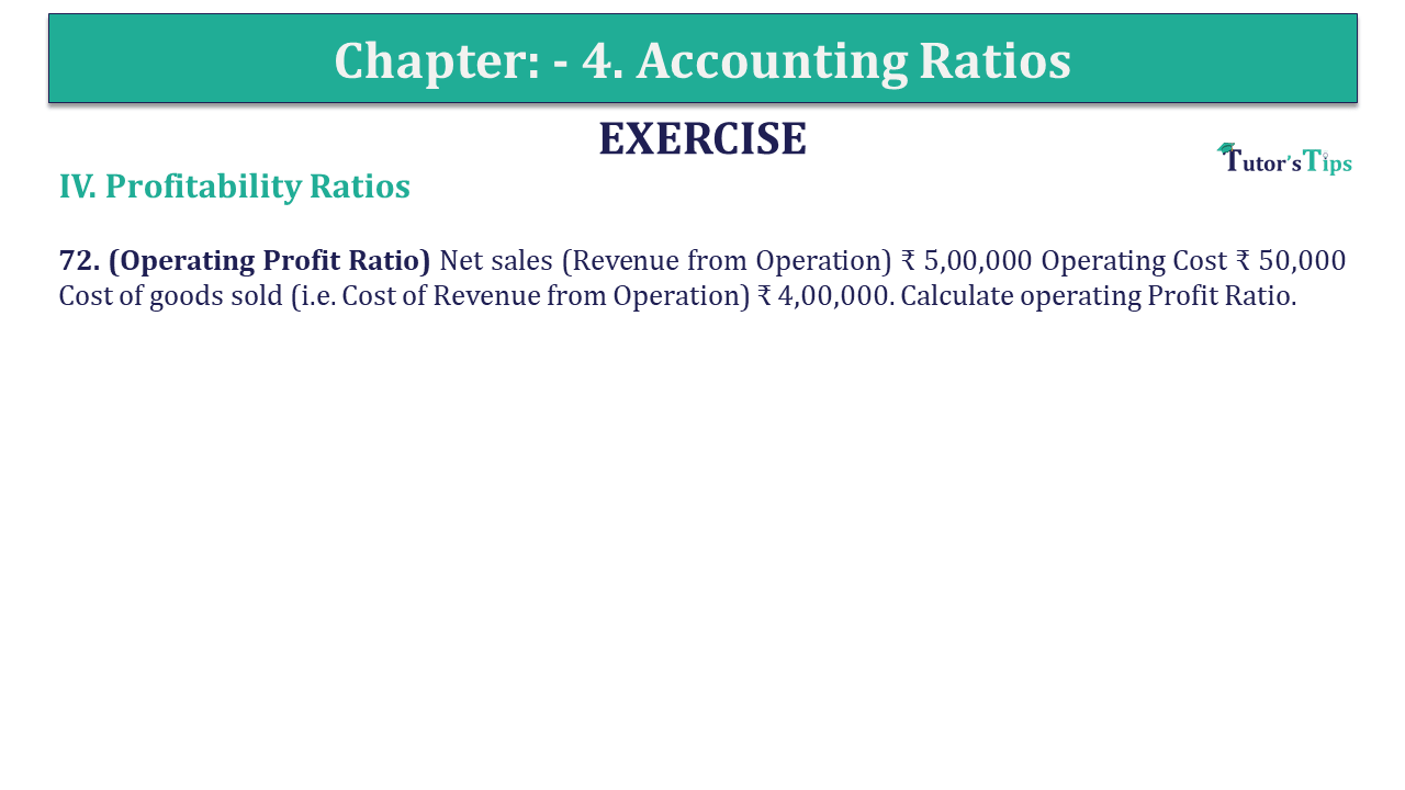 Question 72 Chapter 4 of +2-B