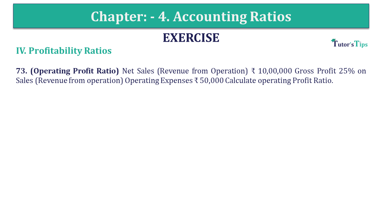 Question 73 Chapter 4 of +2-B